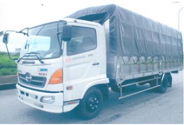 Xe tải Hino FC 6 tấn thùng bạt dài 5,8m